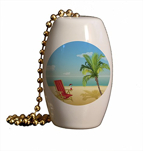 Beach Paradise Porcelain Fan / Light