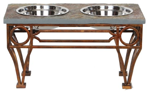 Feeder Table (Unleashed Life Wescott Table with Natural Slate Top)