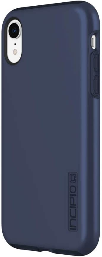 "Incipio DualPro Case for iPhone XR (6.1"") with Hybrid Shock-Absorbing Drop Protection - Midnight Blue"