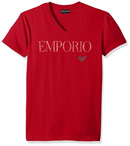110810 Corta Articolo Manica Tango Uomo Scollo Armani Emporio V shirt Red Maglietta T 8p51 qvvHgA