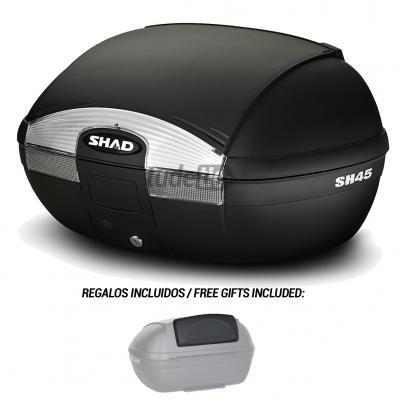 D0B45100-KIT1//214 Baul trasero o maleta para scooter moto SH45 SH 45 RESPALDO REGALO SHAD