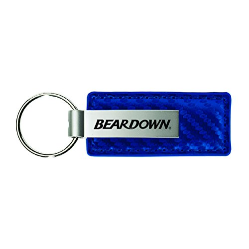 University of Arizona-Carbon Fiber Leather and Metal Key Tag-Blue - Leather Football Keychain Tag