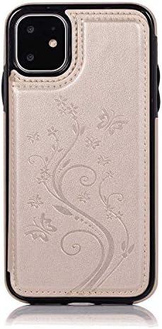 iPhone 8 PUレザー ケース, 手帳型 ケース 本革 カバー収納 ポーチケース 財布 全面保護 ビジネス 手帳型ケース iPhone アイフォン 8 レザーケース