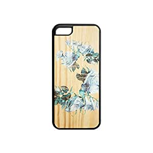 Floral Flower on Wood Customized design personalized unique hard plastic Case Cover for iPhone5c Case Cover, Protection Perfect fit for iPhone 5c phone case