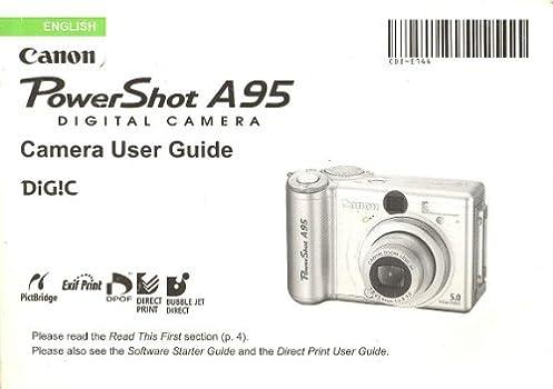 canon powershot a95 digital camera user guide original instruction rh amazon com manual de camara canon powershot a95 canon powershot a85 manual