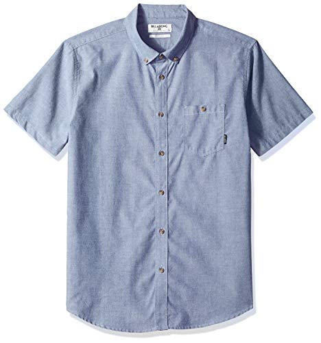 Billabong Men's All Day Short Sleeve Shirt Blue Large