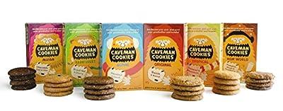 Caveman Cookies 6 Flavor Variety Pack (Pack of 6)