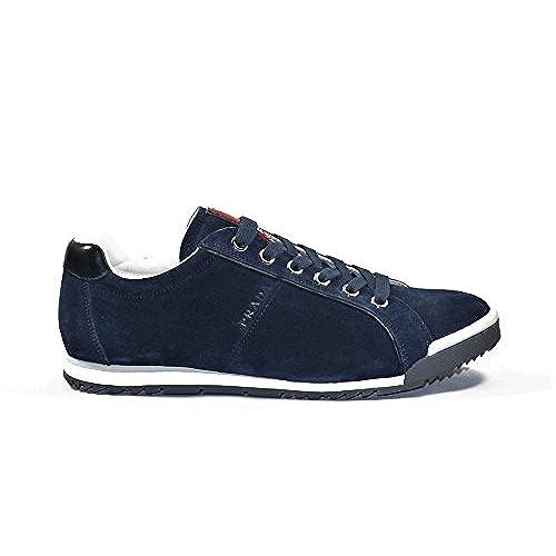 df31a1ac best Prada Men's Scamosciato Trainer Sneakers, Navy 4E2719 ...