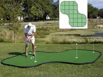 Tour Links 12-feet by 12-feet Putting Green