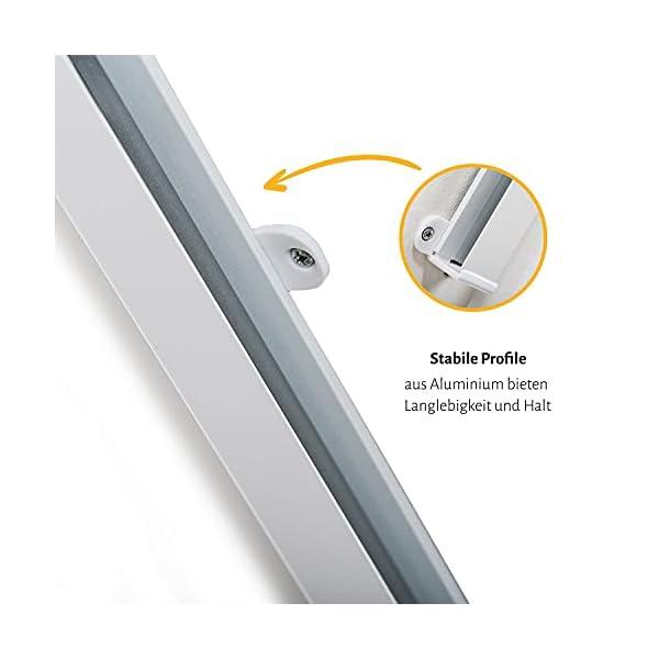 419e8wBUIBS empasa Insektenschutz Fliegengitter Dachfenster Plissee 'Master' Alurahmen verschiedene Größen in weiß und braun als…