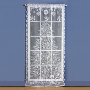 Lighted Christmas Curtain Panels