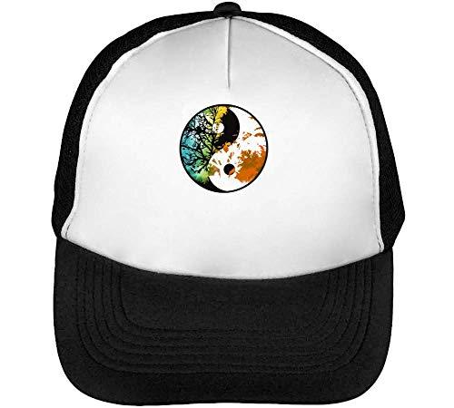 Jing Jang Logo Tree Gorras Hombre Snapback Beisbol Negro Blanco