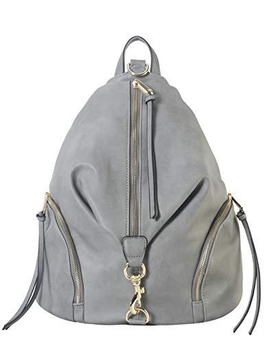 Yellow Junior Handbags - Diophy PU Leather Fashion Backpack with Zipper Pockets on Both Side Womens Purse Handbag AB-052
