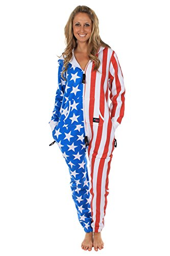 0c73715ee55 American Flag Jumpsuit - Comfy USA Clothing Item by Tipsy Elves ...