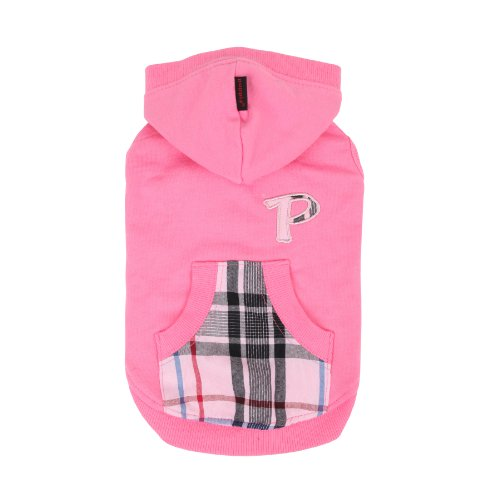 PUPPIA Authentic Modern Hoodie for Pets, Small, Pink by Puppia