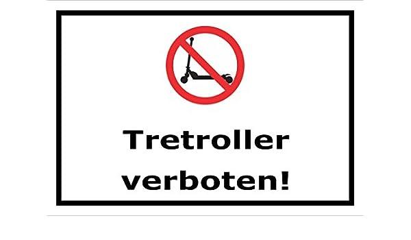 Cartel prohibido - Patinete - 15 x 20 cm, 30 x 20 cm y 45 x ...
