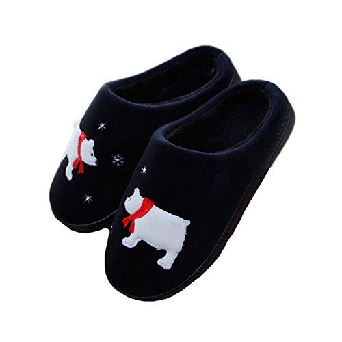 Pantofole Jaderich Polsino Caldo Accogliente Pile Calde Interne Nere