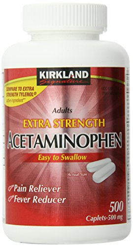 Kirkland Extra Strength Non-Aspirin Acetaminophen Caplets, 500 mg, 500 Count