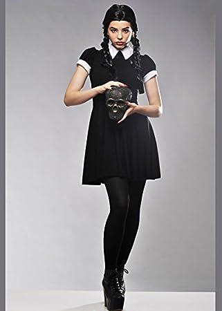 Delights Traje de Mujer Adulta Miércoles Adams Style S/M (UK 8-10 ...