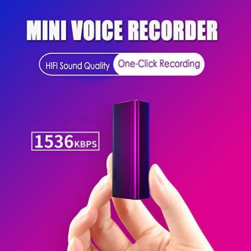 CHuangQi Mini grabadora de Voz Esp/ía Mini grabadora de Voz Digital 16GB Grabadora de Voz port/átil Mini Pluma magn/ética Fuerte 8GB
