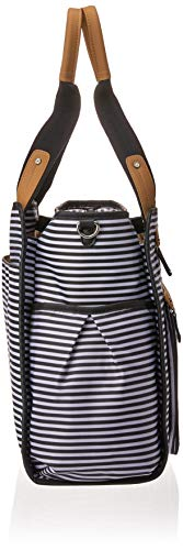 Skip Hop Diaper Bag Tote with Matching Changing Pad, Grand Central, Black & White Stripe by Skip Hop (Image #3)
