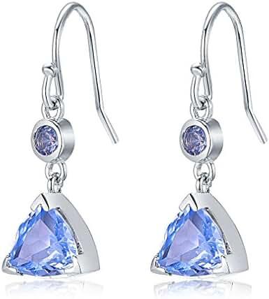 Aurora Tears Amethyst Multicolored Topaz CZ Drop Earrings Teardrops Dangler