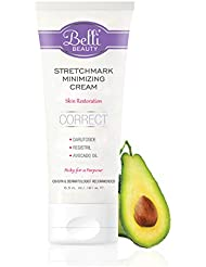 Belli Stretchmark Minimizing Cream – For Existing Stretch Marks of Any Age or from Any Cause – Features Darutoside, Regestril, and Avocado Oil – OB/GYN and Dermatologist Recommended – 6.5 oz
