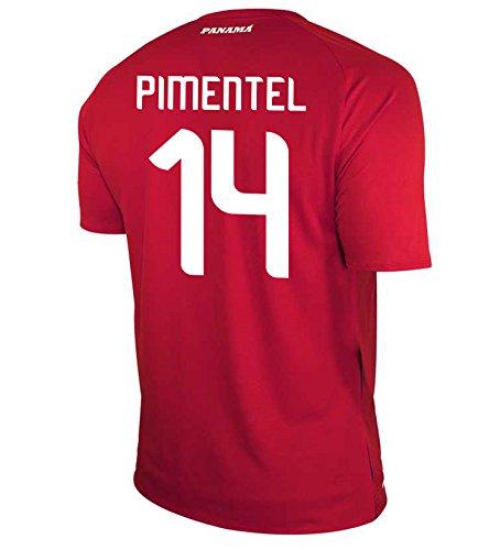 バット利用可能トリクルNew Balance Men's PIMENTEL #14 Panama Home Soccer Jersey FIFA World Cup Russia 2018/サッカーユニフォーム パナマ ホーム用 ピメンタル#14