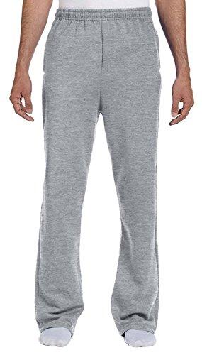 - Jerzees Men's NuBlend 50/50 Open-Bottom Pocket Sweatpant, Athletic Hthr, Medium