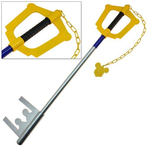 Giant Yellow Key Kingdom of Swords Full Size Hearts Blade Steel Version (Kingdom Hearts House Key)