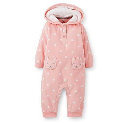 Carter's F14 1pc Girl MF Pink Dot Kitty Pockets 6 Months