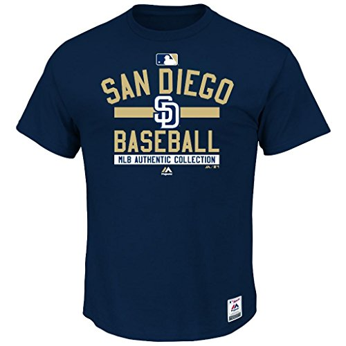 MLB Men's Authentic Collection Team Property T-Shirt (Small, San Diego Padres)