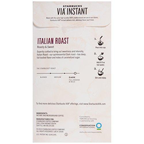Starbucks VIA Instant Coffee, Italian Roast, 50 Count