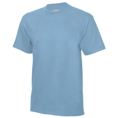 Usa Homme t Clair Hanes Beefy Bleu shirt T 4Xwngdq