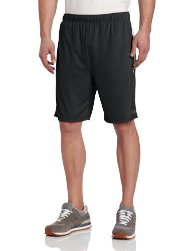 Alo Yoga Men's Reponse Short, Anthracite/White, Large