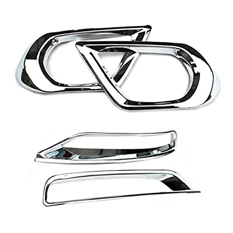 Amazon Abs Chrome Front Rear Fog Light Trim Cover 4pcs For
