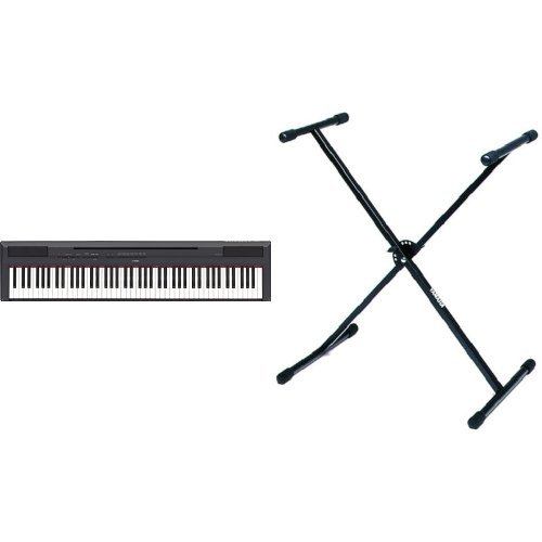 Yamaha P-115B Digital Piano schwarz + Yamaha L2 Keyboardständer X-Form schwarz Bundle