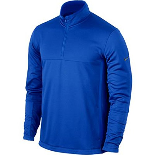 Nike Golf Therma-FIT Cover-Up Gorge Royal/Anthracite Strike L (Nike Golf Therma Fit 1 2 Zip Pullover)