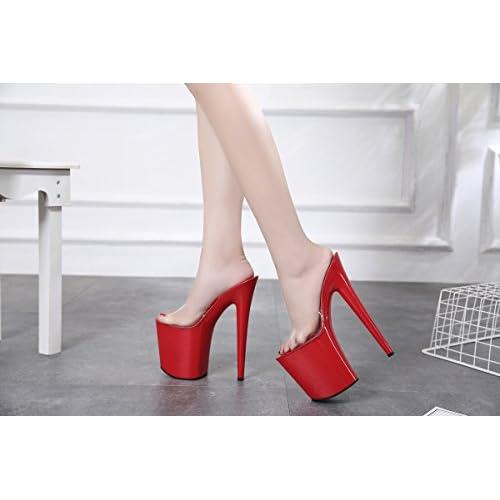 93cf98f7 Chic XiaoGao 20 cm Zapatos de tacon super fresco y zapatillas en el  escenario,De
