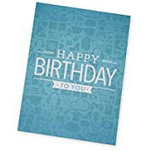 Amazon.ca $30 Gift Card in a Greeting Card (Birthday Icons Design)