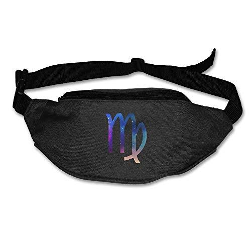 Unisex Waist Purse Virgo Funny Fanny Pocket Adjustable Running Sport Waist Bags Black