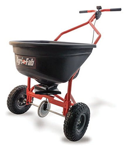 Agri-Fab Broadcast Spreader, 110 lb Capacity, Orange/Black by Agri-Fab