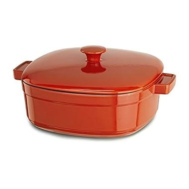 KitchenAid KCLI40CRAU Streamline Cast Iron 4-Quart Casserole Cookware - Autumn Glimmer