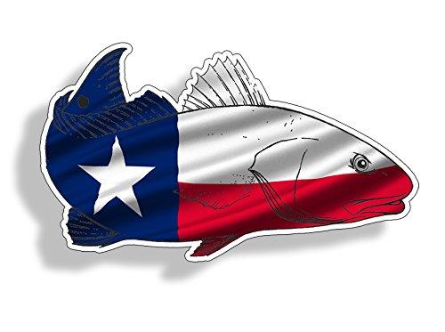 Texas TX Red Fish Sticker Car Truck Laptop Custom Printed Fi