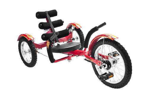 Mobo Cruiser Mobito Ultimate Three Wheeled Cruiser, Red, 16-Inch