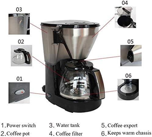Koffiezetapparaat, Koffiezetapparaat Drip Koffiezetapparaat met 1L Glass Jug Afneembare Anti-Drip Ontwerp Houd Warm 1050W HUERDAIIT