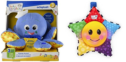 [Baby Einstein Octoplush Toy & Star Bright Symphony Toy for Kids, 2 Pack] (Bacon And Egg Halloween Costume)