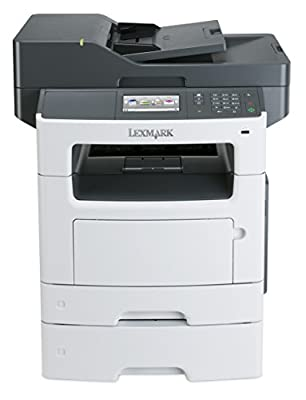 Lexmark MX511dte Monochrome All-In One Laser Printer with 550 Sheet Tray, Scan, Copy, Network Ready, Duplex Printing and Professional Features