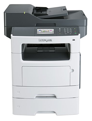 Lexmark MX511dte Monochrome All-In One Laser Printer with 550 Sheet Tray, Scan, Copy, Network Ready, Duplex Printing and Professional Features by Lexmark