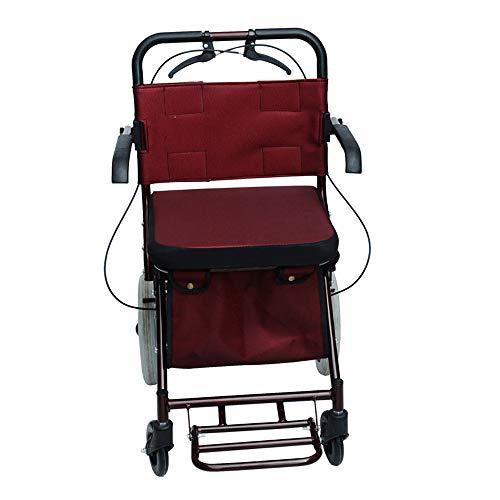 Amazon.com: Rollator Walker con asiento, asas cómodas y ...